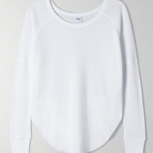TNA ALDER THERMAL WHITE WAFFLE LONG SLEEVE XS